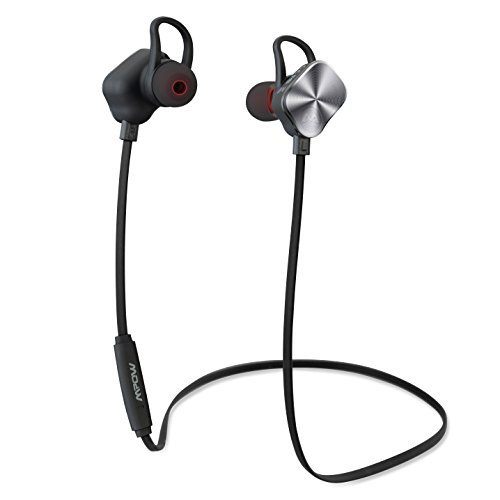 Click to buy Mpow Magneto Bluetooth 4.1 In-ear aptX Stereo Sports Headphones with 8-Hour Mic Talking Time-Silver - From only $75