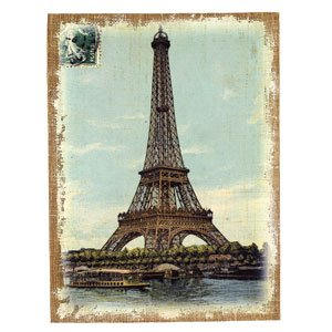 Amazon.com: Vintage Eiffel Tower Reproduction - Art Print on Stretched