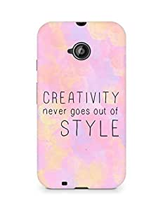AMEZ creativity never goes out of style Back Cover For Motorola Moto E2