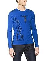 Trussardi Collection Camiseta Manga Larga Never Enough (Azul)