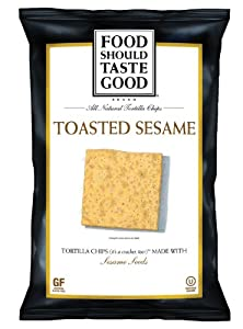 Food Should Taste Good Chips, Toasted Sesame, 5.5 Ounce (Pack of 12)
