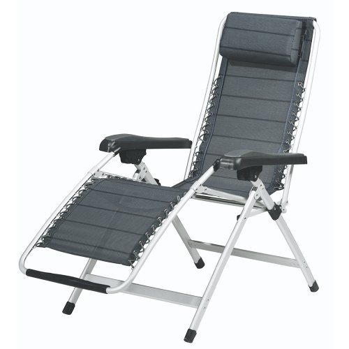 outwell hudson relax gris chaise pliante mobilier de camping chaises. Black Bedroom Furniture Sets. Home Design Ideas