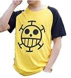 ONE PIECE ワンピース・トラファルガー・ロー風  コスプレ衣装 半袖Tシャツ M(レディス/メンズ)