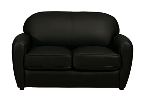 Sofa Vintage Cigar 2 Sitzer schwarz