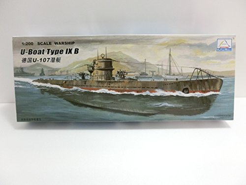 1/200 ドイツ海軍 UボートIXB型 U-107 フルハルモデル 水中モ...