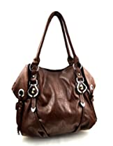 New York Style Hobo Handbag - Choice of Colors (Brown)