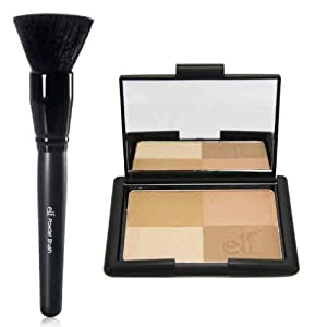 elf Studio Golden Bronzers and Powder Brush