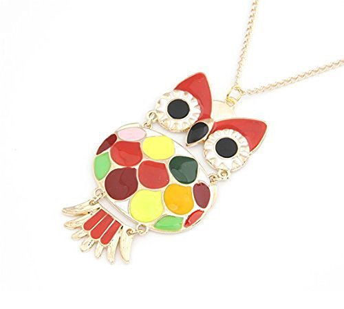 fuyunshine-cute-colored-glazed-owl-pendant-necklaceowl-pendant-necklace-for-womengirls