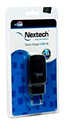 Nextech 900 MA USB Travel Charger (Black)