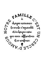 ZZ-Ambiance-sticker Vinilo Decorativo French Quote Notre Famille C'Est Un Cercle D'Amour