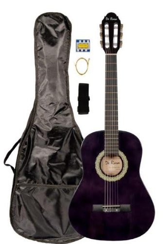 "36"" Inch 3/4 Purple Student Beginner Classical Nylon String Guitar And Carryying Bag, Strap, & Directlycheap(Tm) Translucent Blue Medium Guitar Pick (Pro-K Series)"