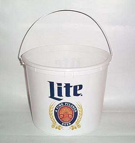 Miller Lite Throwback Vintage Style Plastic Beer Ice Bucket (Beer Bucket Plastic compare prices)