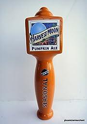 Blue Moon Harvest Moon Pumpkin Ale Seasonal Ceramic Large 3 Sided Pub Beer Keg Tap Lever Knob Handle