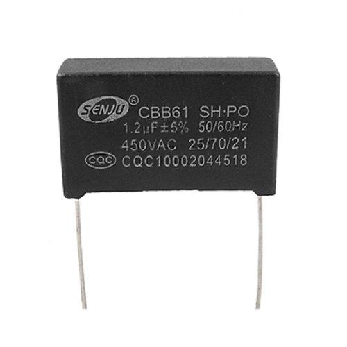 Fan Cbb61 Nonpolar 2 Pins 1.2Uf 450V Ac Motor Start-Up Capacitor