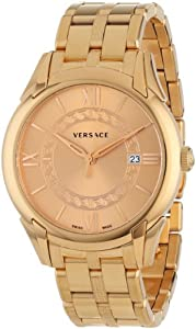 """Versace Men's VFI060013 """"Apollo"""" Rose Gold Ion-Plated Stainless Steel Casual Watch"""