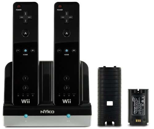 Nyko Charge Station for Wii/Wii U (Black) (743840870166)
