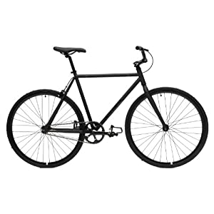 Critical Cycles Fixed Gear Single Speed Fixie Urban Road Bike (Matte Black, X-Large)
