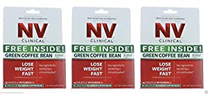 Nv Clinical Hollywood Diet Weight Loss 42 Caplets 18 Green Coffee Bean Pills from NV Clinical