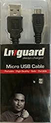 Livguard Micro Usb Data Transfer & Charging Cable (Black Rounded)