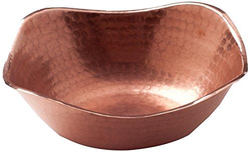 Sertodo Flat Earth Bowl, Hammered Copper