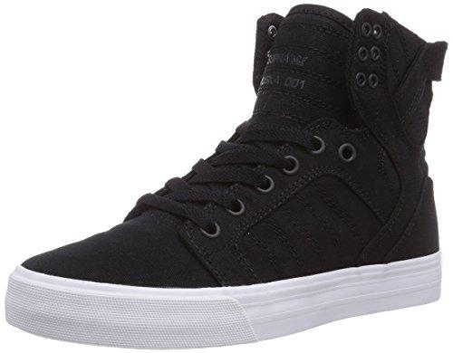 Supra SKYTOP D, Sneaker alta unisex adulto, Nero (Schwarz (BLACK - WHITE     BLK)), 43