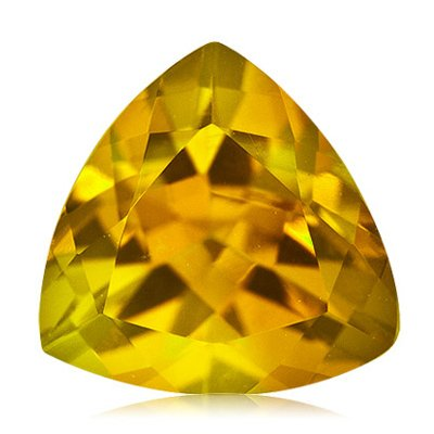 1.90 Cts of 9 mm AA Trillion Loose Yellow Beryl ( 1 pc ) Gemstone