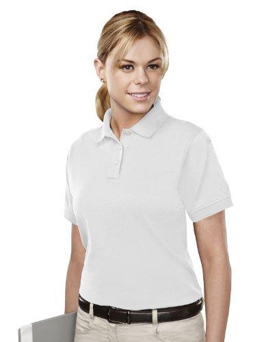 Tri-Mountain Womens Cotton/Poly 60/40 Knit Polo Shirt, W/ Mic Loops & Pen Pocket 011 - White_2Xl front-439720