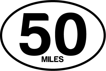 50 Miles Oval Decal (Oval Decal compare prices)