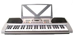 Huntington KB54-100 54-Key Portable Electronic Keyboard (Silver)