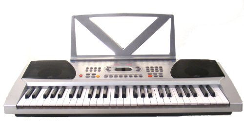 Huntington KB54-100 54-Key Portable Electronic Keyboard (Silver)