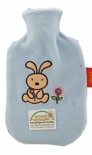 HOT WATER BOTTLE BY FASHY CHILD WITH EMBROIDED COVER (6505) - 1