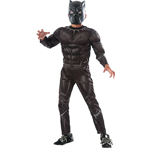 [Captain America: Civil War Deluxe Black Panther Costume, Medium 8-10] (Black Panther Civil War Costume)