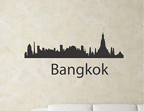 Bangkok Thailand City Skyline Vinyl Wall Art Decal Sticker front-299886