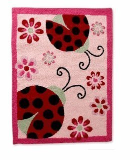 Li'l Kids L Is for Ladybug Rug - 1