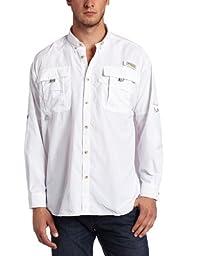 Columbia Men's Bahama II Long Sleeve Shirt, White, Large