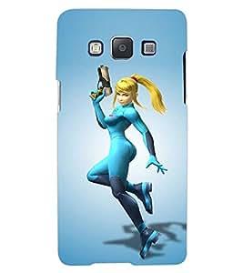 ColourCraft Warrior Girl Design Back Case Cover for SAMSUNG GALAXY A7