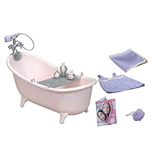 Amazon Com Our Generation Pink Bathtub Amp Doll