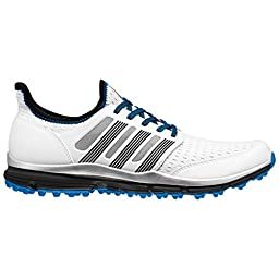 adidas Men\'s Climacool Golf Spikeless, FTWR White/Core Black/Bright Blue, 13 M US