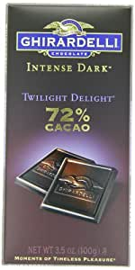Ghirardelli Chocolate Intense Dark Bar, Twilight Delight, 3.5 oz., 6 Count