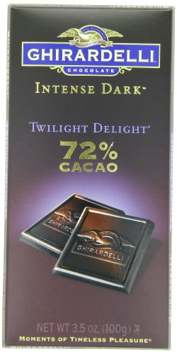 Ghirardelli Chocolate Intense Dark Bar, Twilight Delight, 3.5 oz., 6 Count