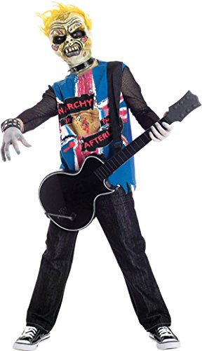 Boys Zombie Icons Punk Rawk Kids Child Fancy Dress Party Halloween Costume
