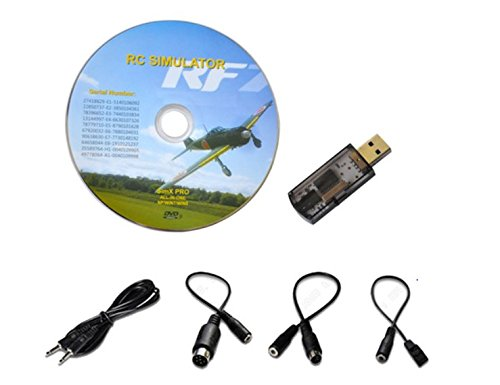 USB Flight Simulator FMS Cable for DX5e Dx6i DX7 JR Futaba RC RealFlight Spektrum Esky FMS Support G7 G6.5 G5.5 G5 ~ G2 Aerofly RC Helicopter Airplane Remote Controller