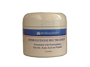 SKIN FADING LIGHTENING Serum- OTC Dark skin whitening bleach cream lotion - For Scars melasma, hyperpigmentation bleaching maxi peel- formulated with Hydroquinone, kojic acid, glycolic acid AHA, Vitamin C & peptides