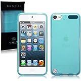 Apple iPod Touch 5 TPU Gel Skin Case / Cover (Blue)