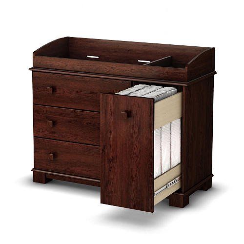 South Shore Precious Changing Table Royal Cherry front-460279