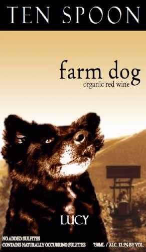 Nv Ten Spoon Farm Dog Red Wine 750 Ml - Usda Organic - No Added Sulfites