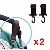 2x Pram Clips Bag Buggy Set BUGGY BAG HOOKS/Clips Fit Bugaboo, Phil+Teds,Quinny