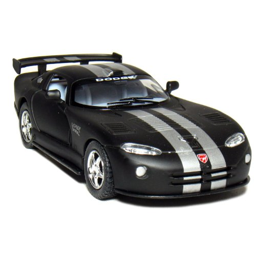 "5"" Dodge Viper GTS-R 1:36 Scale (Matte Black/Silver Stripes) by Kinsmart"
