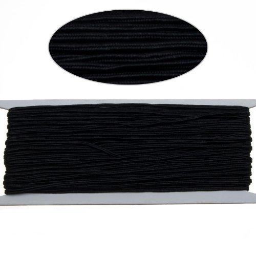 Black Color Soutache Cord for Jewelry Making-65 Feet-2.5mm Width (Soutache Cord compare prices)