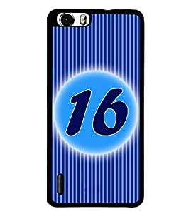 Fuson 2D Printed Numerology Designer back case cover for Huawei Honor 6 Plus - D4234